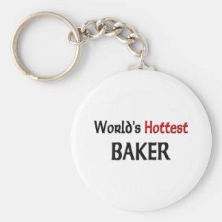 El panadero más caliente de los mundos llavero redondo tipo pin