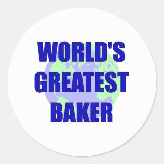 El panadero más grande del mundo pegatina redonda