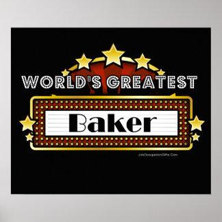 El panadero más grande del mundo póster