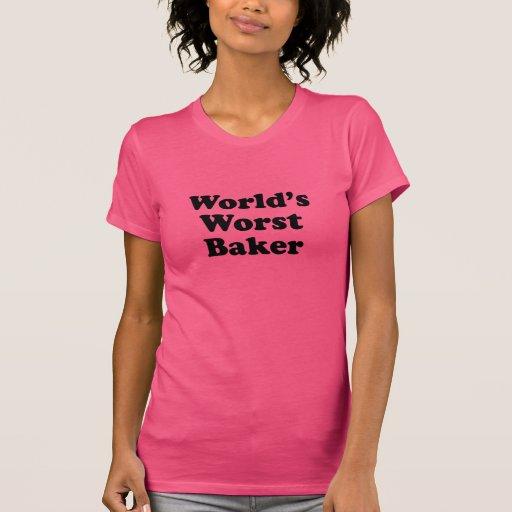 El panadero peor del mundo camiseta
