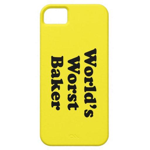El panadero peor del mundo funda para iPhone 5 barely there