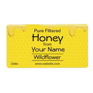 El panal adaptable de las etiquetas de la miel etiquetas de envío