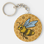 El panal manosea la abeja llaveros