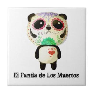 El Panda de Los Muertos Azulejo Ceramica