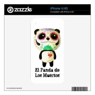 El Panda de Los Muertos iPhone 4S Skins