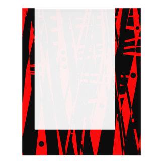 """El panel 020 - Extracto en rojo y negro Folleto 4.5"""" X 5.6"""""""