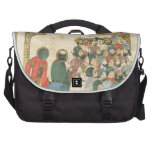 El panel antiguo asiático clásico bolsas para portatil