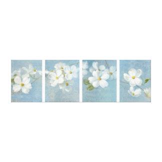 El panel blanco del flor impresión en lienzo
