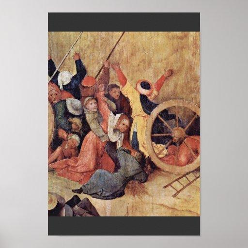El panel central del tríptico de Wain del heno: El Póster