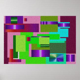 El panel coloreado extracto poster