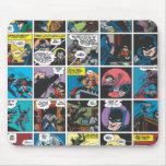 El panel cómico 5x5 de Batman Alfombrilla De Ratón