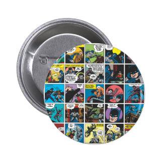 El panel cómico 5x5 de Batman Pin Redondo De 2 Pulgadas