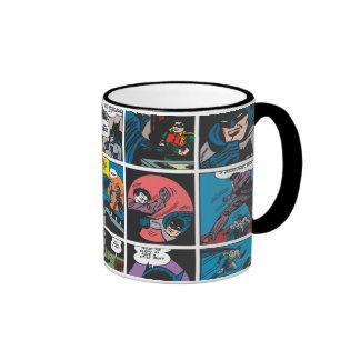 El panel cómico 5x5 de Batman Taza A Dos Colores