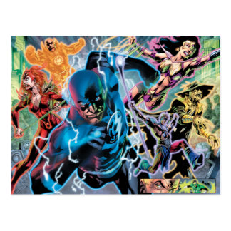 El panel cómico de la noche más negra - color postales