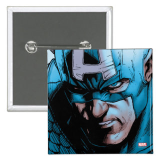 El panel cómico de los vengadores de capitán pin cuadrado