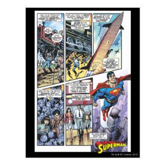 El panel cómico del superhombre - los orígenes 2 d tarjetas postales