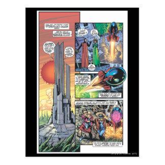 El panel cómico del superhombre - los orígenes de  tarjeta postal
