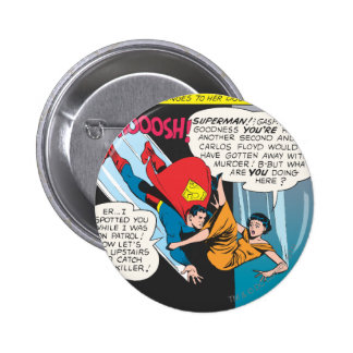 El panel cómico del superhombre - zambullidas de L Pin Redondo De 2 Pulgadas