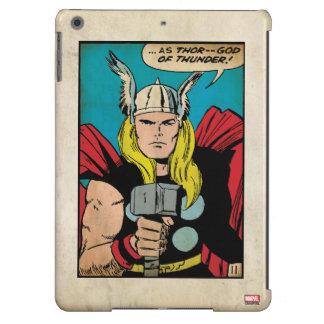 """El panel cómico del trueno del Thor """"dios"""" Carcasa Para iPad Air"""