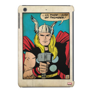 """El panel cómico del trueno del Thor """"dios"""" Funda Para iPad Mini Retina"""