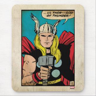 """El panel cómico del trueno del Thor """"dios"""" Tapete De Ratón"""