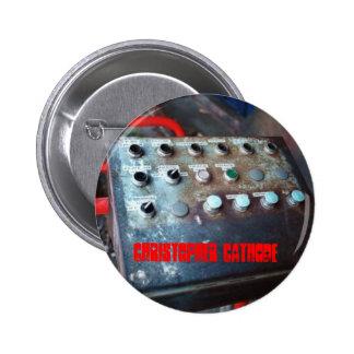 El panel de control del cátodo de Chris abotona el Pin Redondo 5 Cm