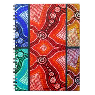 El panel de Corroboree del arco iris Libretas Espirales