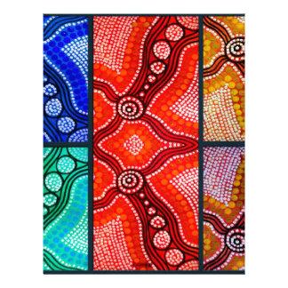 El panel de Corroboree del arco iris Membrete A Diseño