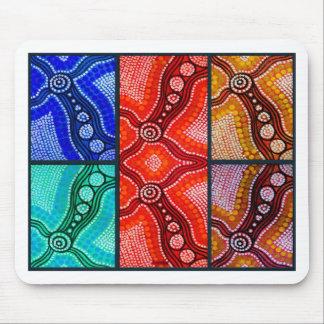El panel de Corroboree del arco iris Alfombrillas De Raton