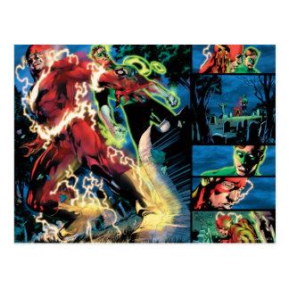 El panel de destello y verde de la linterna tarjetas postales