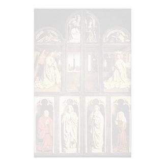 El panel de enero van Eyck- Left del Altarpiece de Personalized Stationery
