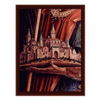 El panel de la derecha del tríptico del altar tarjetas postales