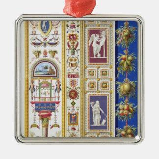 El panel de la logia de Raphael en el Vatican, de Adorno Navideño Cuadrado De Metal