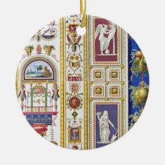 El panel de la logia de Raphael en el Vatican, de Adorno Navideño Redondo De Cerámica