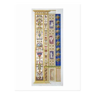 El panel de la logia de Raphael en el Vatican, de Tarjeta Postal