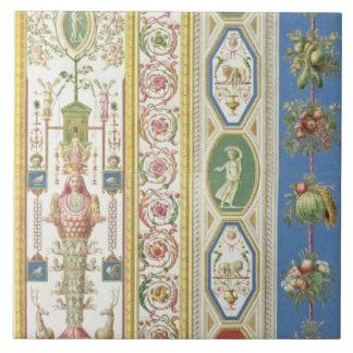 El panel de la logia de Raphael en el Vatican, eng Azulejo Cuadrado Grande