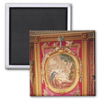 El panel de la tapicería que representa el Cupid y Imán Cuadrado
