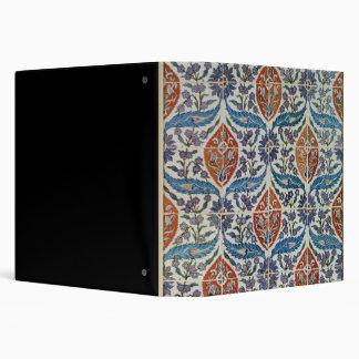 "El panel de las tejas de la loza de barro de Isnik Carpeta 1 1/2"""