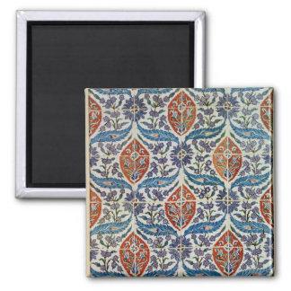 El panel de las tejas de la loza de barro de Isnik Imán Cuadrado