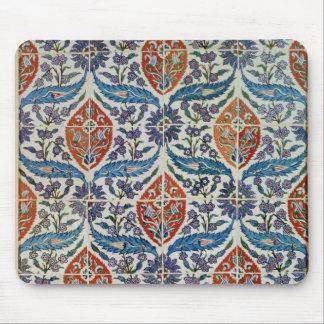 El panel de las tejas de la loza de barro de Isnik Mouse Pad