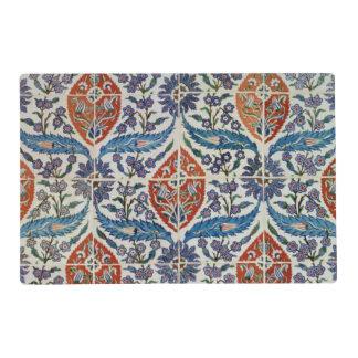 El panel de las tejas de la loza de barro de Isnik Tapete Individual