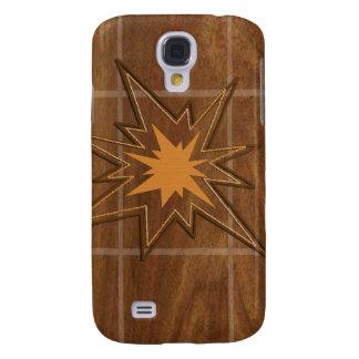 El panel de madera americano de la ESTRELLA WALLNU Funda Para Galaxy S4