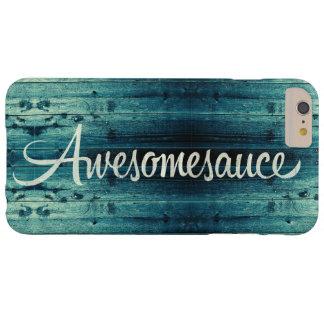 El panel de madera de Awesomesauce Funda De iPhone 6 Plus Barely There
