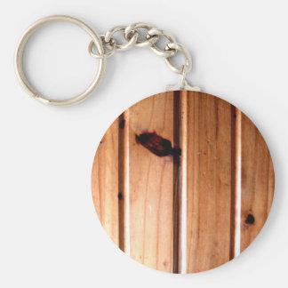 El panel de madera del Wainscoting Llavero Redondo Tipo Pin