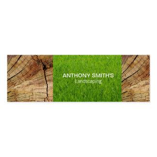 El panel de madera e hierba cortada tarjetas de visita mini