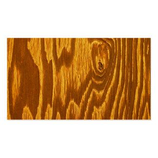 El panel de madera tarjetas de visita