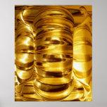 El panel de oro de NOVINO - decoración Impresiones