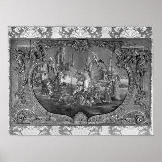 El panel de Overdoor con el tema chino, c.1730 Impresiones