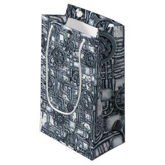 El panel de Steampunk - engranajes y tubos - acero Bolsa De Regalo Pequeña