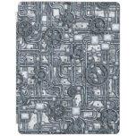 El panel de Steampunk - engranajes y tubos - acero Cover De iPad